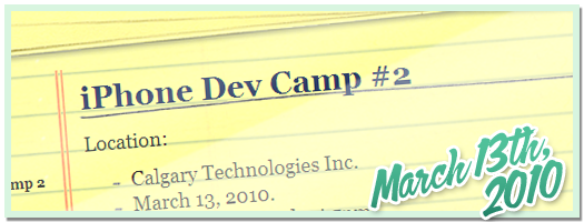 iPhone Dev Camp 2