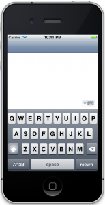 Finished Evernote keyboard button